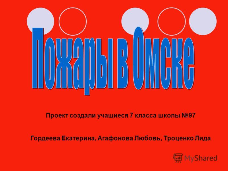 Проект создали учащиеся 7 класса школы 97 Гордеева Екатерина, Агафонова Любовь, Троценко Лида