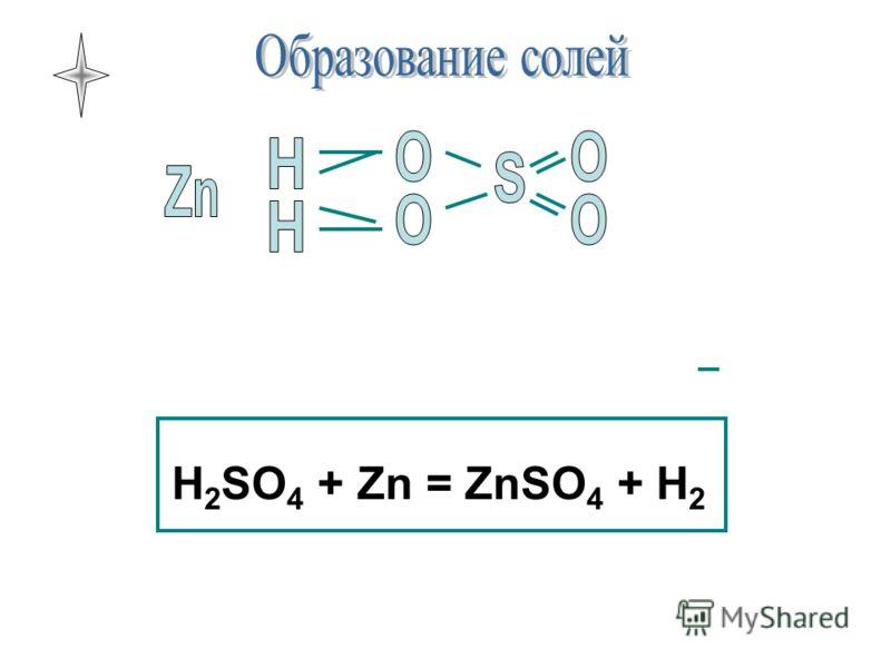 H 2 SO 4 + Zn = ZnSO 4 + H 2