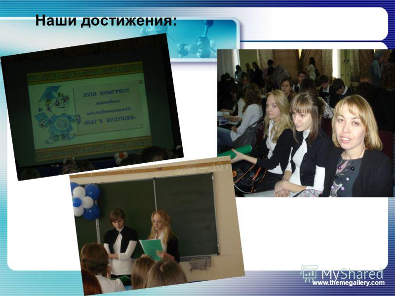 www.themegallery.com Наши достижения: