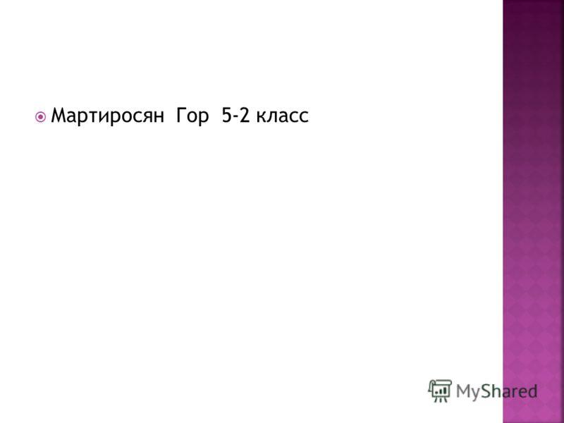 Мартиросян Гор 5-2 класс