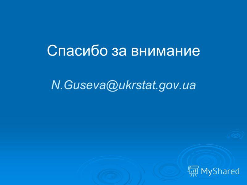 Спасибо за внимание N.Guseva@ukrstat.gov.ua
