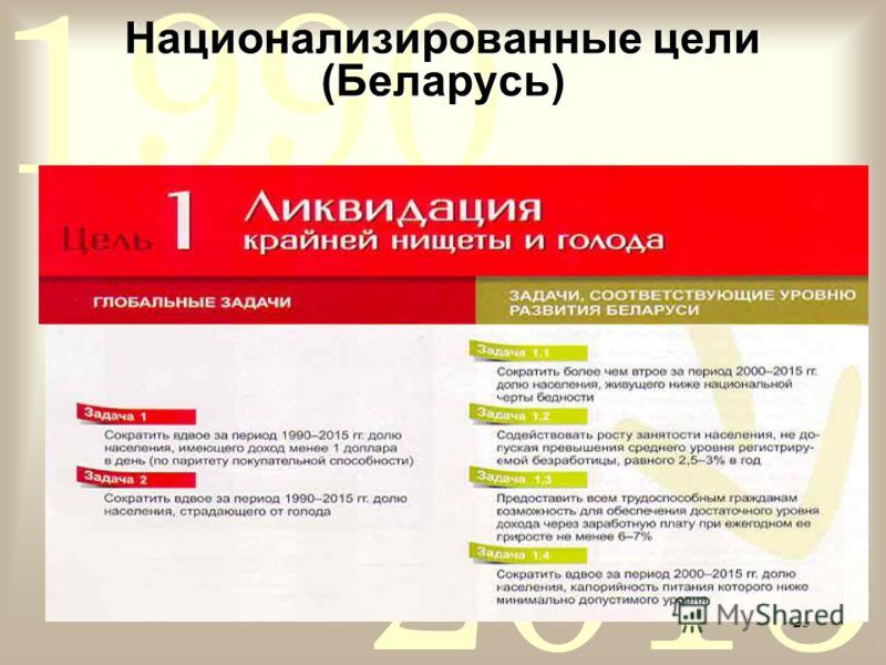 2015 1990 25 Национализированные цели (Беларусь)