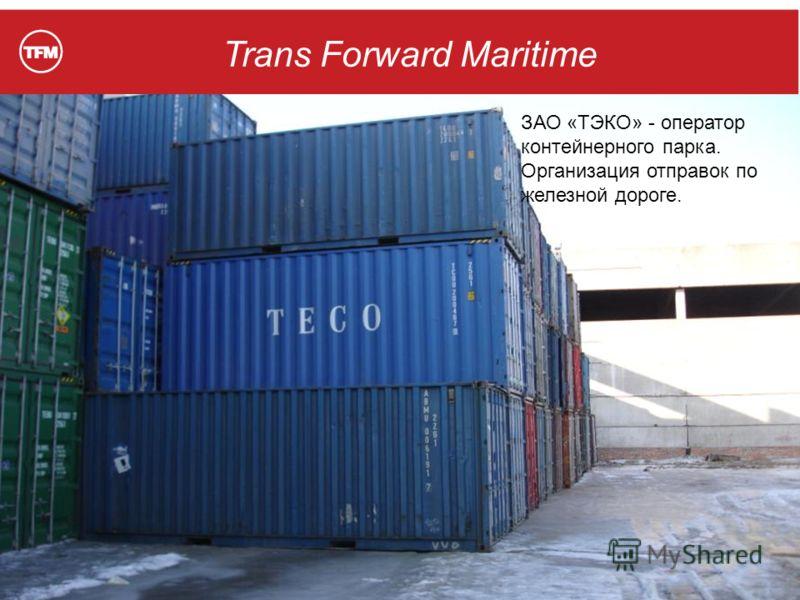 Trans Forward Maritime ЗАО «ТЭКО» - оператор контейнерного парка. Организация отправок по железной дороге.