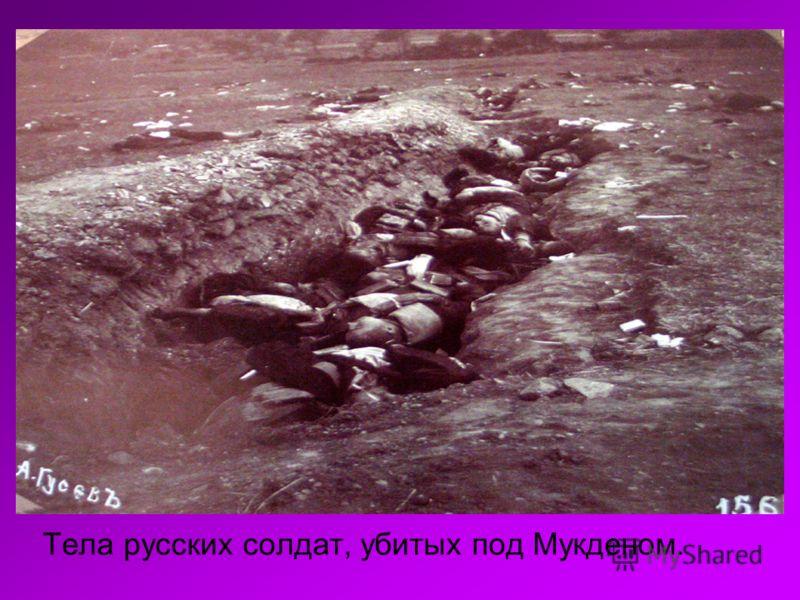Тела русских солдат, убитых под Мукденом.