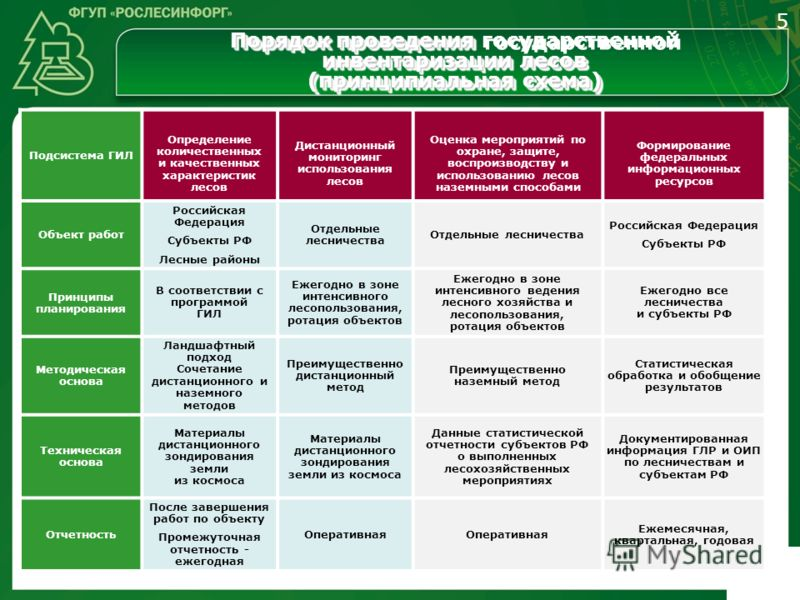 Подсистема ГИЛ Определение количественных и качественных характеристик лесов Дистанционный мониторинг использования лесов Оценка мероприятий по охране, защите, воспроизводству и использованию лесов наземными способами Формирование федеральных информа