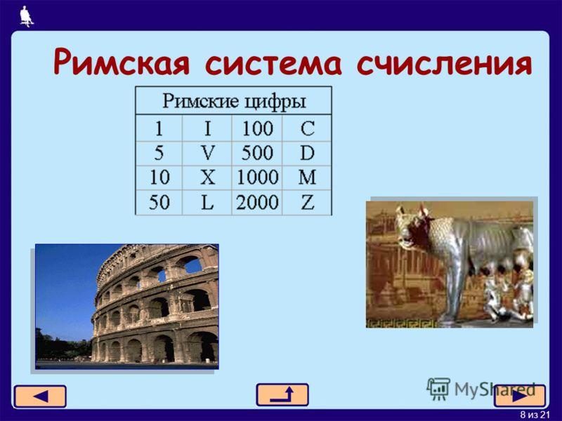 8 из 21 Римская система счисления