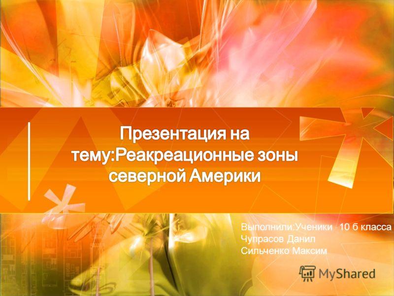 Выполнили:Ученики 10 б класса Чупрасов Данил Сильченко Максим