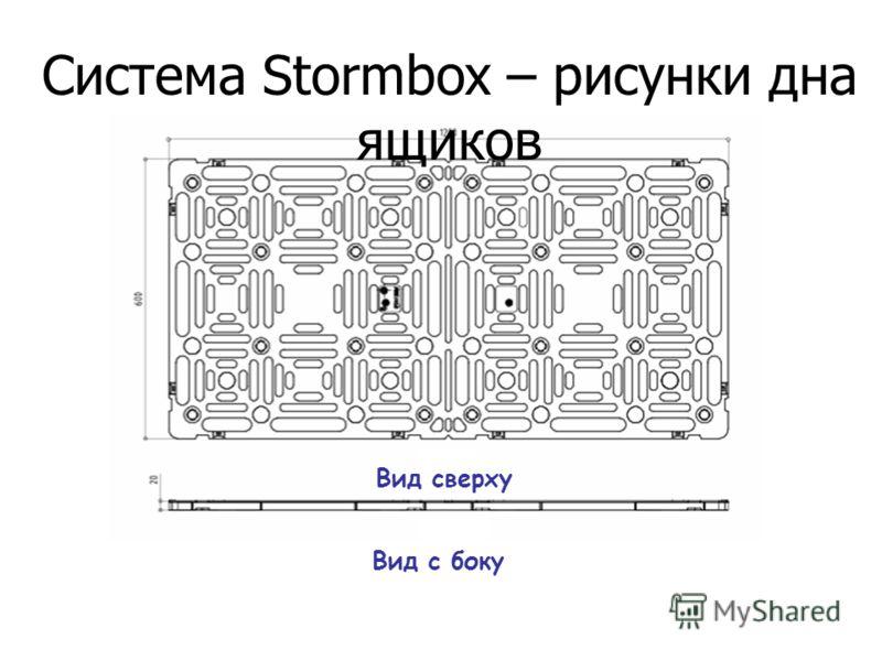 Система Stormbox – рисунки дна ящиков Вид сверху Вид с боку