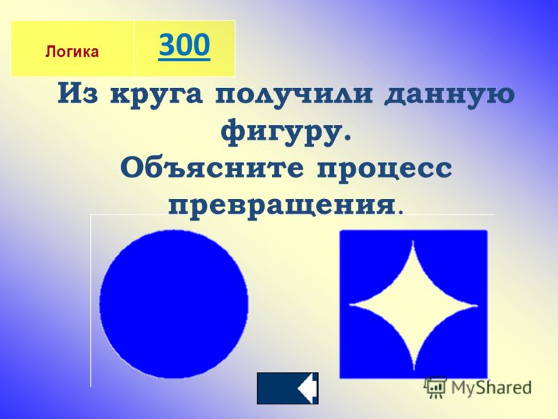 Логика 300 Из круга получили данную фигуру. Объясните процесс превращения.
