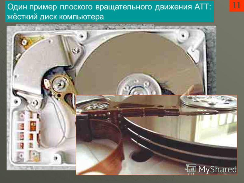 11 Один пример плоского вращательного движения АТТ: жёсткий диск компьютера