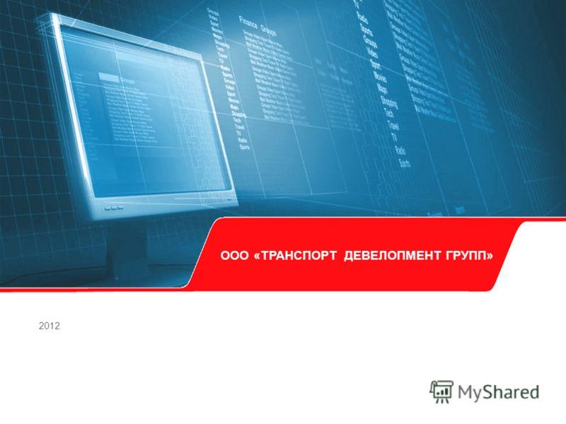 ООО «ТРАНСПОРТ ДЕВЕЛОПМЕНТ ГРУПП» 2012