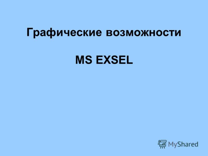 Графические возможности MS EXSEL