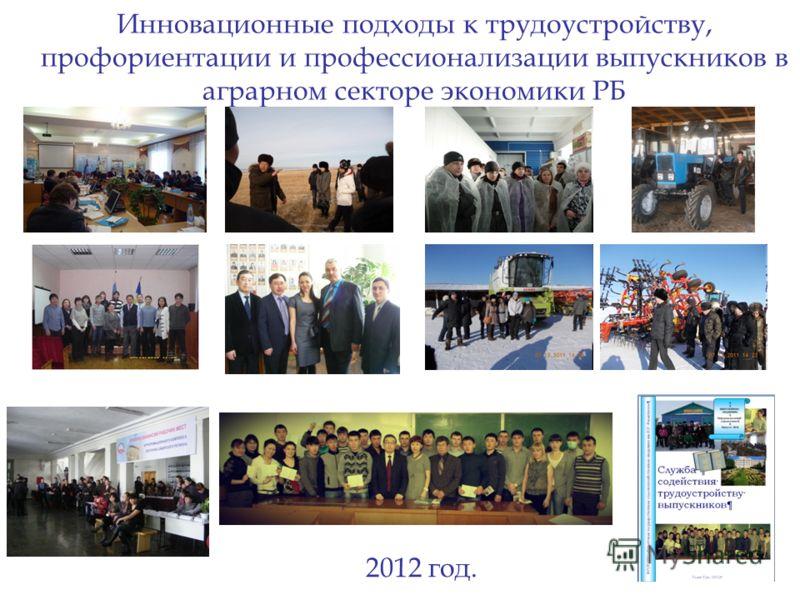 Инновационные подходы к трудоустройству, профориентации и профессионализации выпускников в аграрном секторе экономики РБ 2012 год.