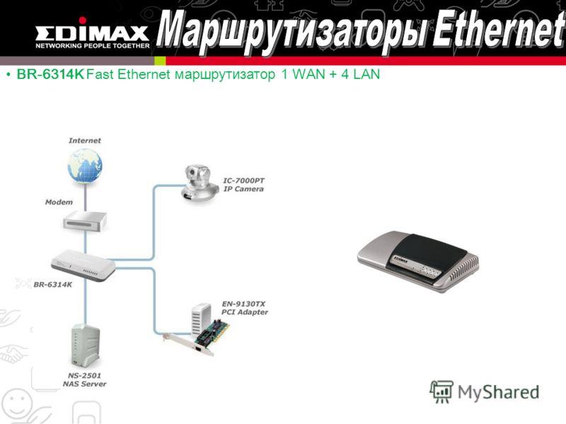 BR-6314K Fast Ethernet маршрутизатор 1 WAN + 4 LAN