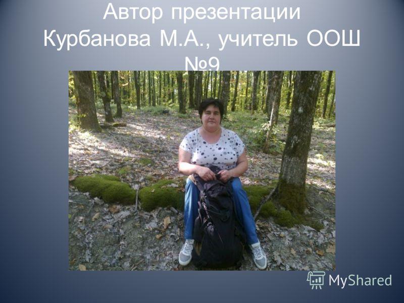 Автор презентации Курбанова М.А., учитель ООШ 9