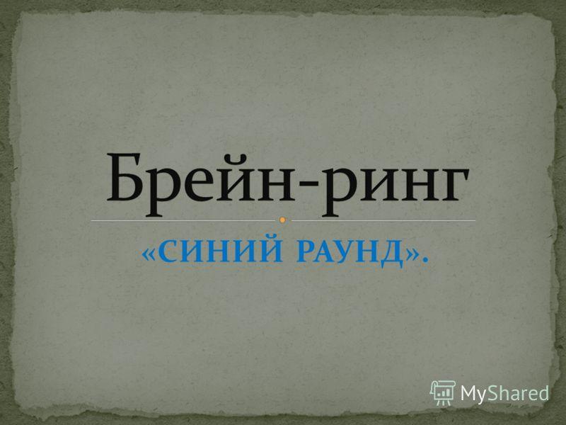 «СИНИЙ РАУНД».