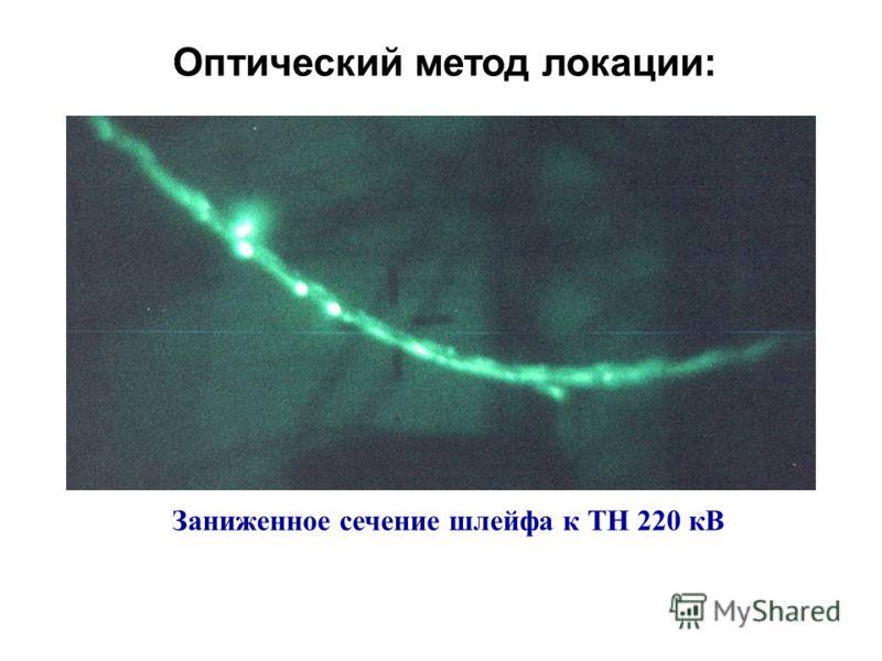 Оптический метод локации: Заниженное сечение шлейфа к ТН 220 кВ