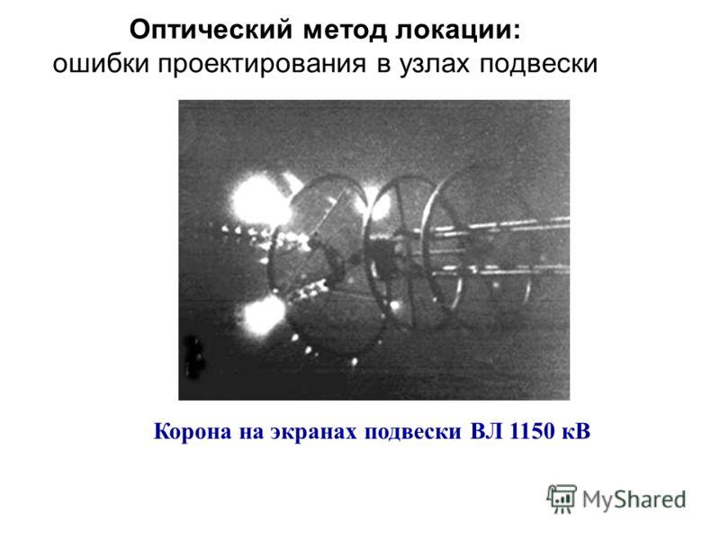 Оптический метод локации: ошибки проектирования в узлах подвески Корона на экранах подвески ВЛ 1150 кВ