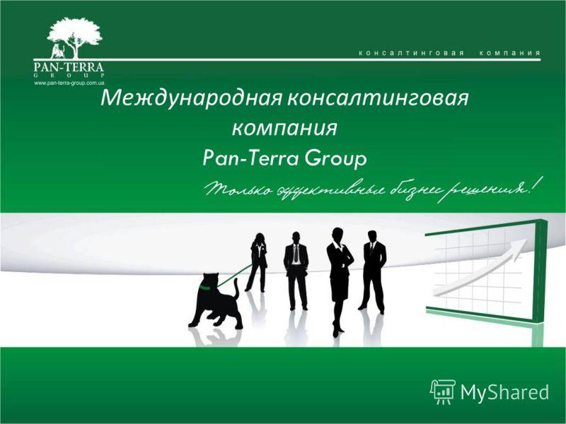 Международная консалтинговая компания Pan-Terra Group