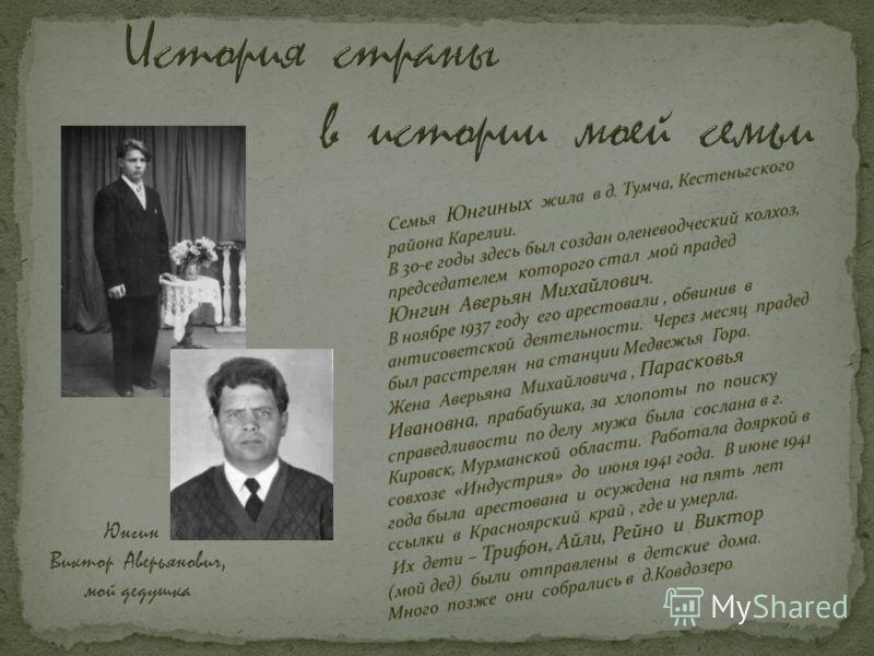 Юнгин Виктор Аверьянович, мой дедушка