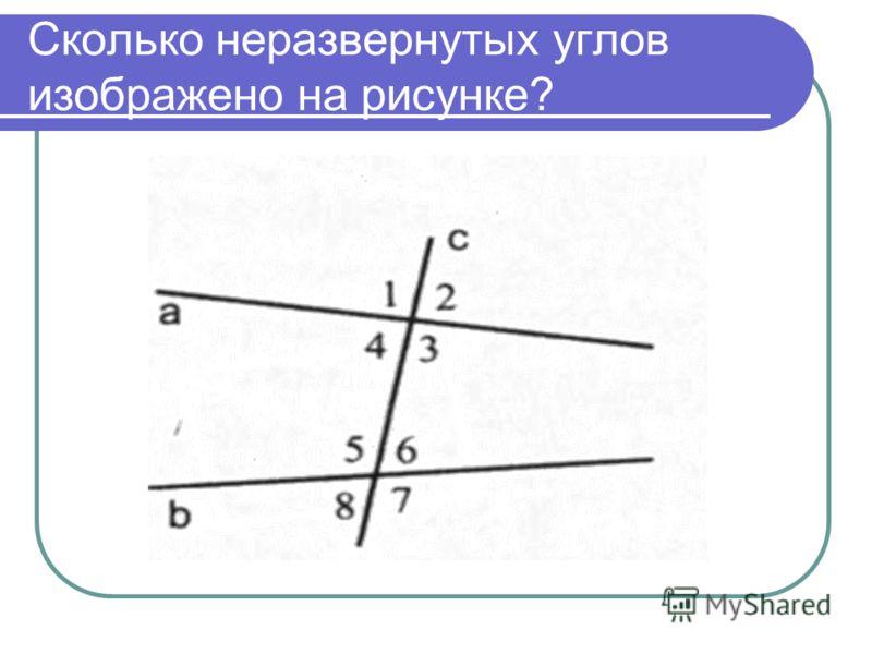 Сколько неразвернутых углов изображено на рисунке?