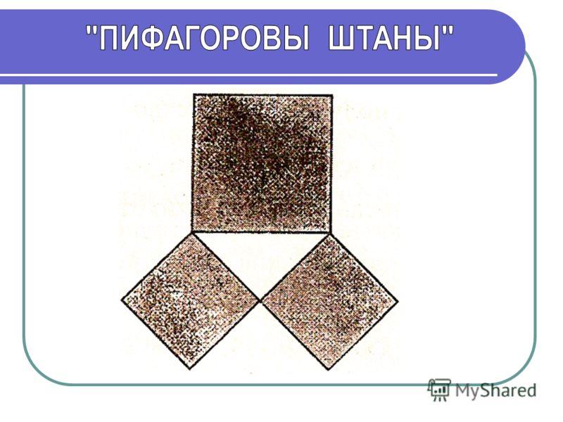 Вероятно теорема Пифагора сначала была доказана для равнобедренного прямоугольного треугольника. Для треугольника АВС квадрат, построенный на гипотенузе АС, содержит 4 треугольника, а квадраты, построенные на катетах, - по 2 треугольника. Значит, пло