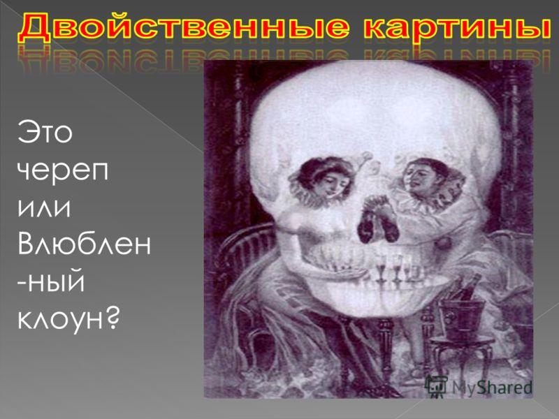 Это картины, на которых можно увидеть не один образ, а несколько. Одним из величайших иллюзионистов был Сальвадор Дали Это череп или Влюблен -ный клоун?