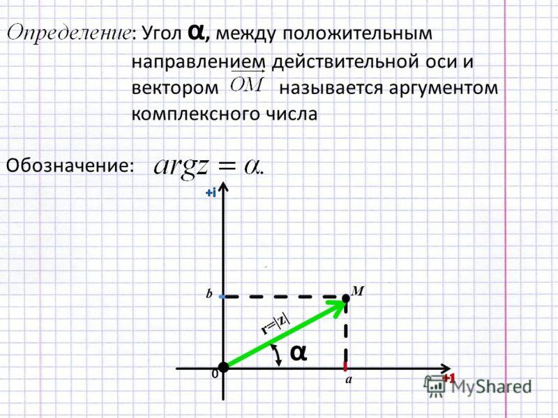 Аргумент комплексного числа