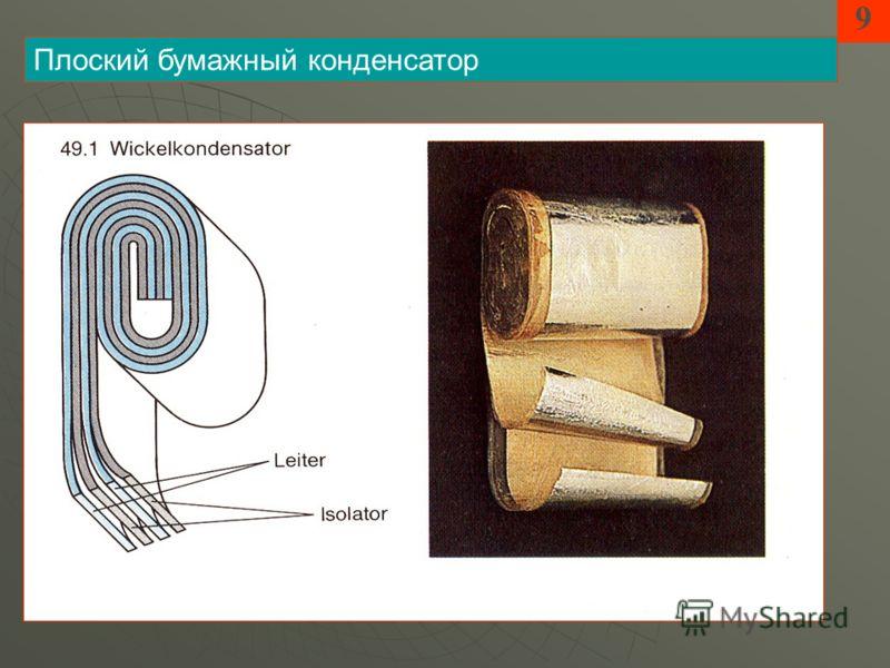 9 Плоский бумажный конденсатор
