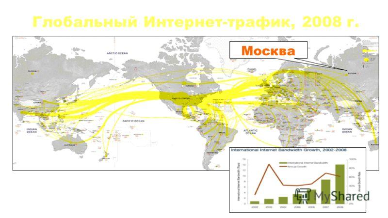 Глобальный Интернет-трафик, 2008 г. Москва