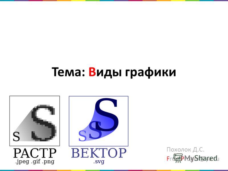 Тема: Виды графики Похолок Д.С. Free-Proger@ya.ru