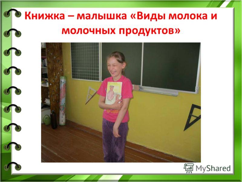 Книжка – малышка «Виды молока и молочных продуктов»