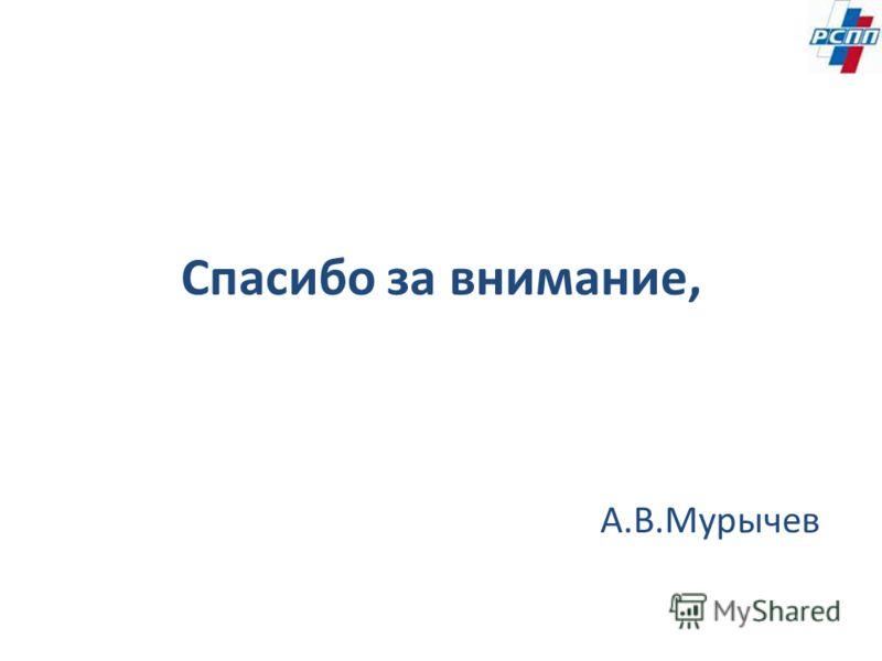 Спасибо за внимание, А.В.Мурычев