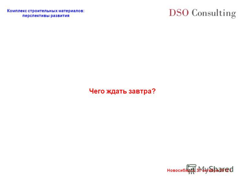Комплекс строительных материалов: перспективы развития Новосибирск, 31 октября 2012 г. Чего ждать завтра?