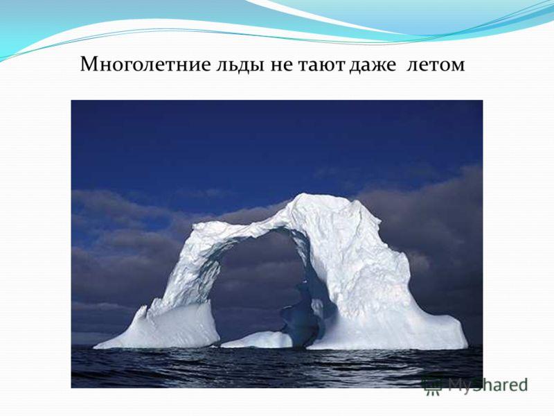 Многолетние льды не тают даже летом