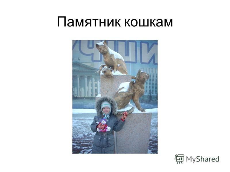 Памятник кошкам