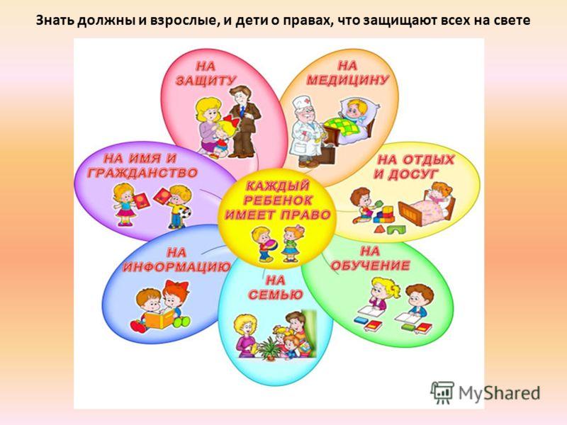 Знать должны и взрослые, и дети о правах, что защищают всех на свете