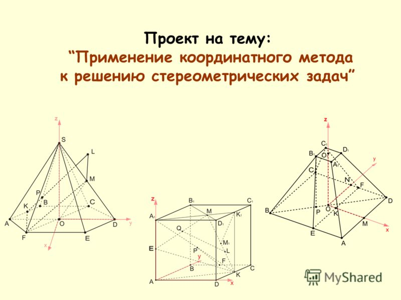 Проект на тему: Применение координатного метода к решению стереометрических задач