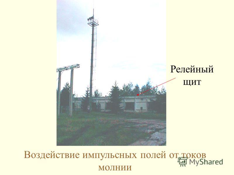 Воздействие импульсных полей от токов молнии Релейный щит