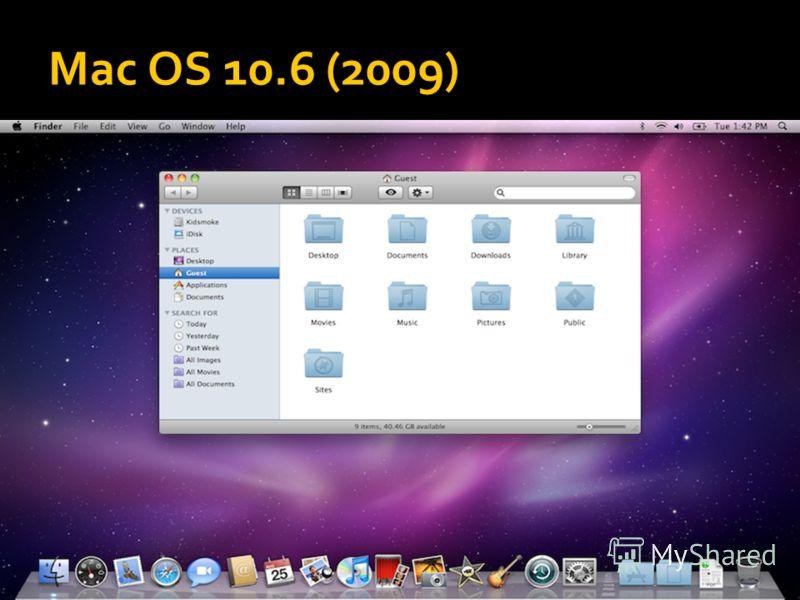 Mac OS 10.6 (2009)