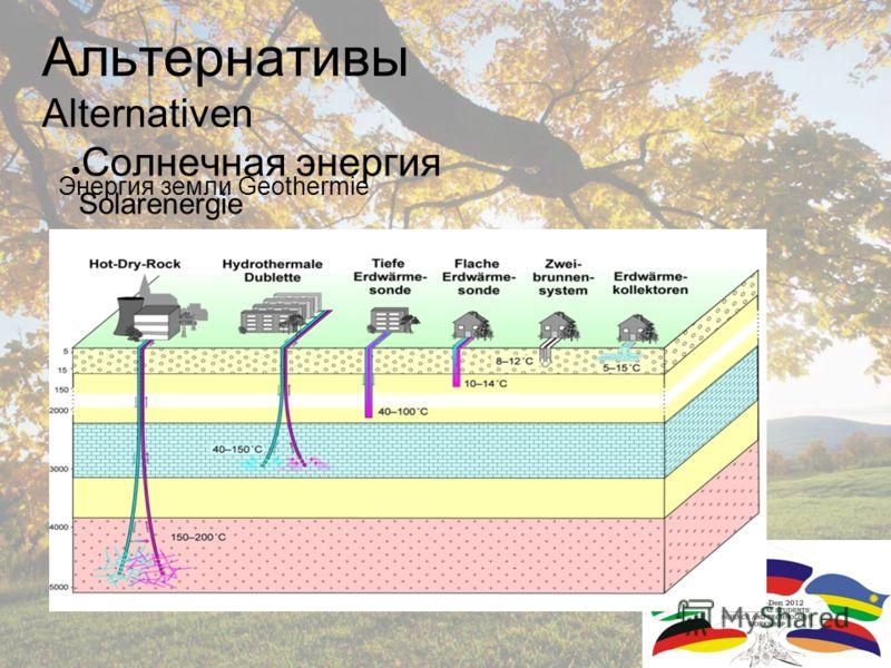 Сила воды Wasserkraft Альтернативы Alternativen Энергия воды Wasserkraft Солнечная энергия Solarenergie Энергия ветра Windkraft