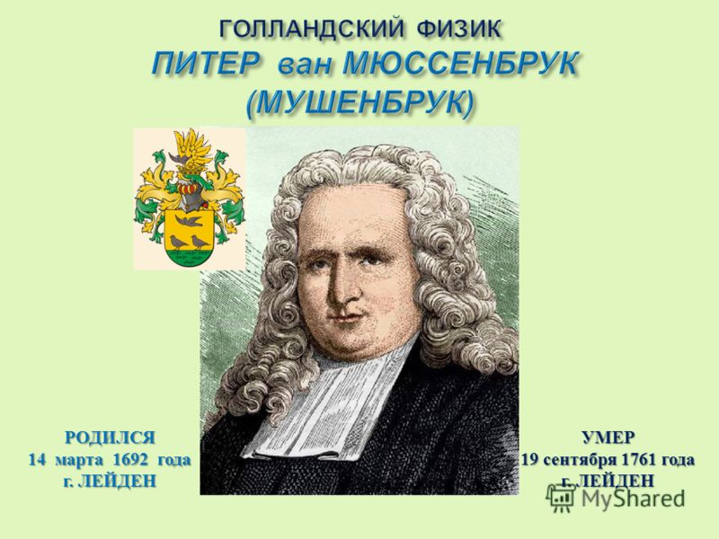 РОДИЛСЯ 14марта 1692 года г. ЛЕЙДЕН УМЕР 19 сентября 1761 года г. ЛЕЙДЕН