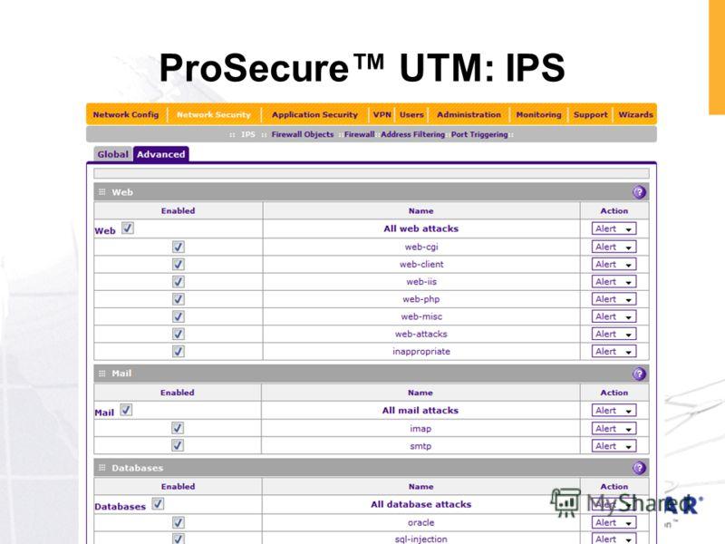 ProSecure UTM: IPS