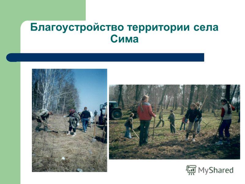 Благоустройство территории села Сима