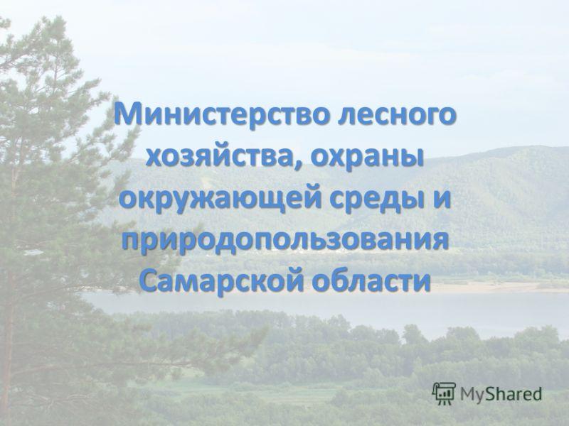 Министерство лесного хозяйства, охраны окружающей среды и природопользования Самарской области