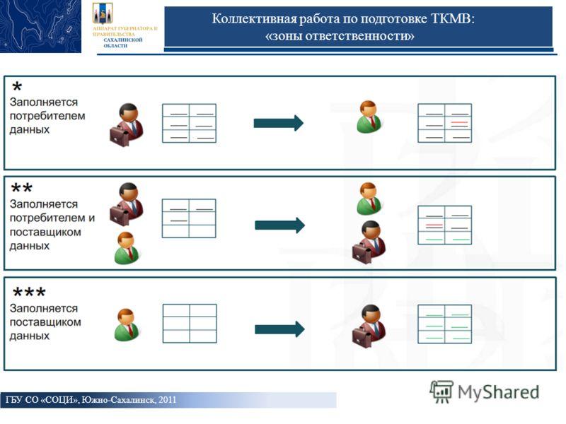 Коллективная работа по подготовке ТКМВ: «зоны ответственности» ГБУ СО «СОЦИ», Южно-Сахалинск, 2011