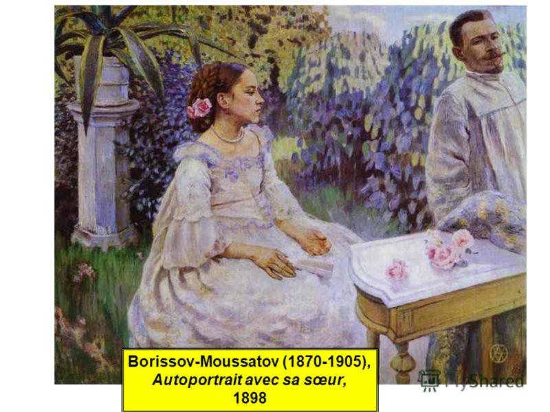 Borissov-Moussatov (1870-1905), Autoportrait avec sa sœur, 1898