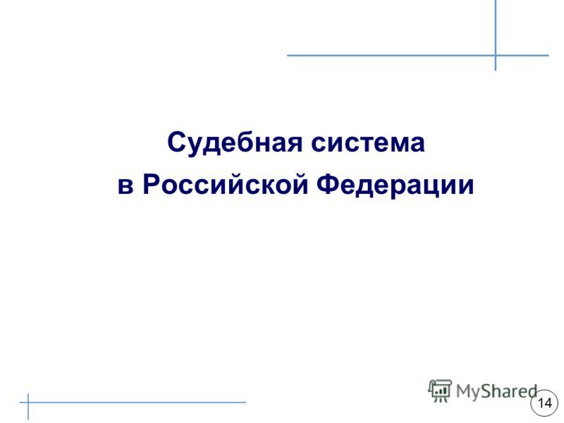 Арбитражная практика 14 Судебная система в Российской Федерации