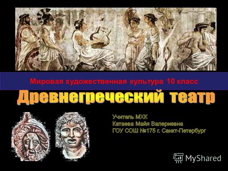 Слово театр произошло от греческого