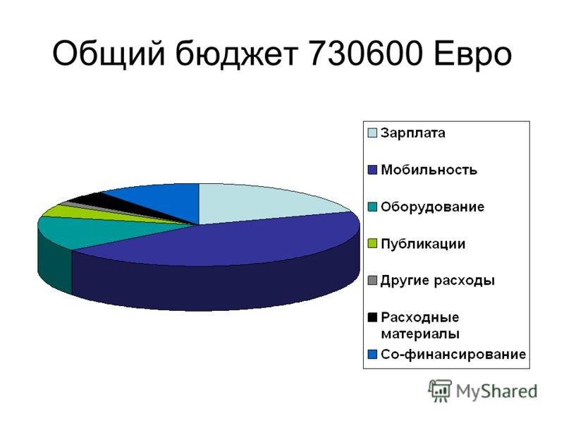 Общий бюджет 730600 Евро